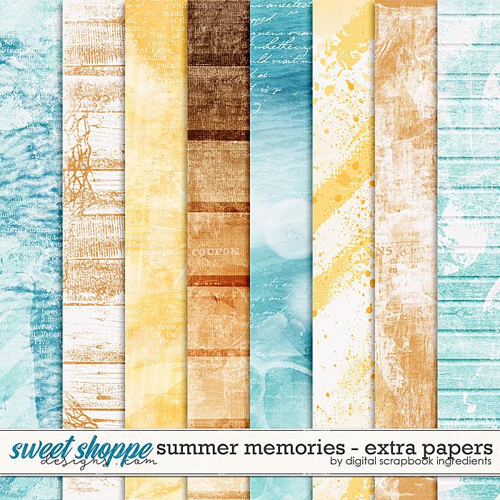 Summer Memories | Extra Papers by Digital Scrapbook Ingredients