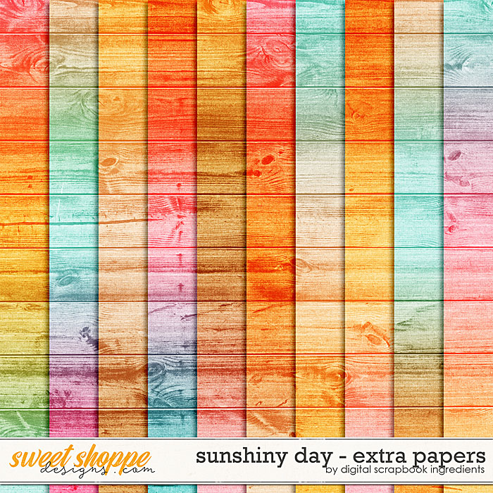 Sunshiny Day | Extra Papers by Digital Scrapbook Ingredients