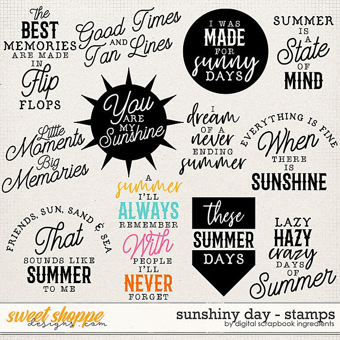 Sunshiny Day | Stamps by Digital Scrapbook Ingredients