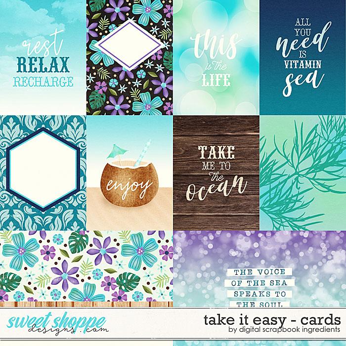 Take It Easy | Cards by Digital Scrapbook Ingredients