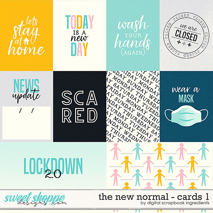 The New Normal | Cards 1 by Digital Scrapbook Ingredients
