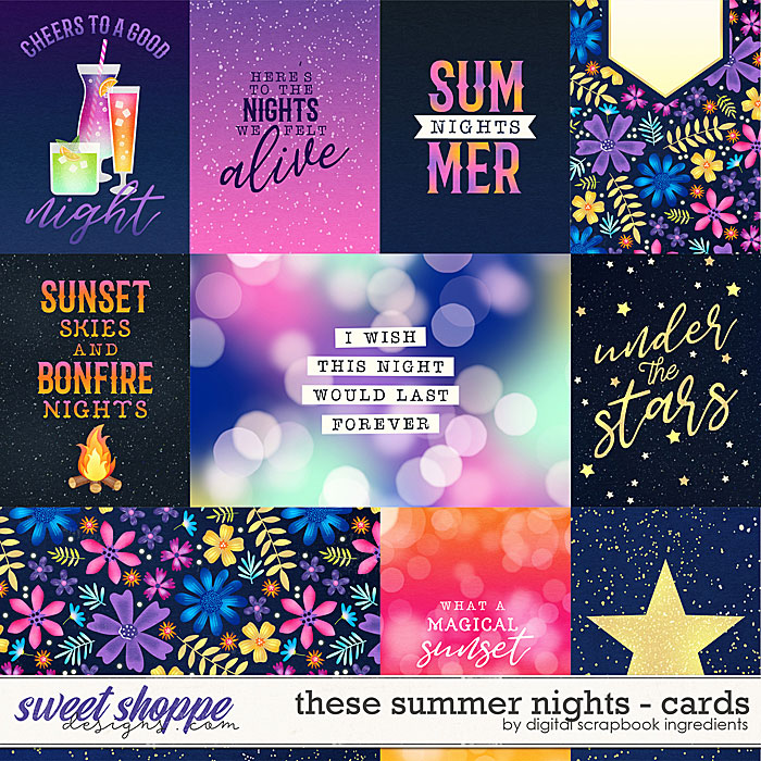 These Summer Nights | Cards by Digital Scrapbook Ingredients