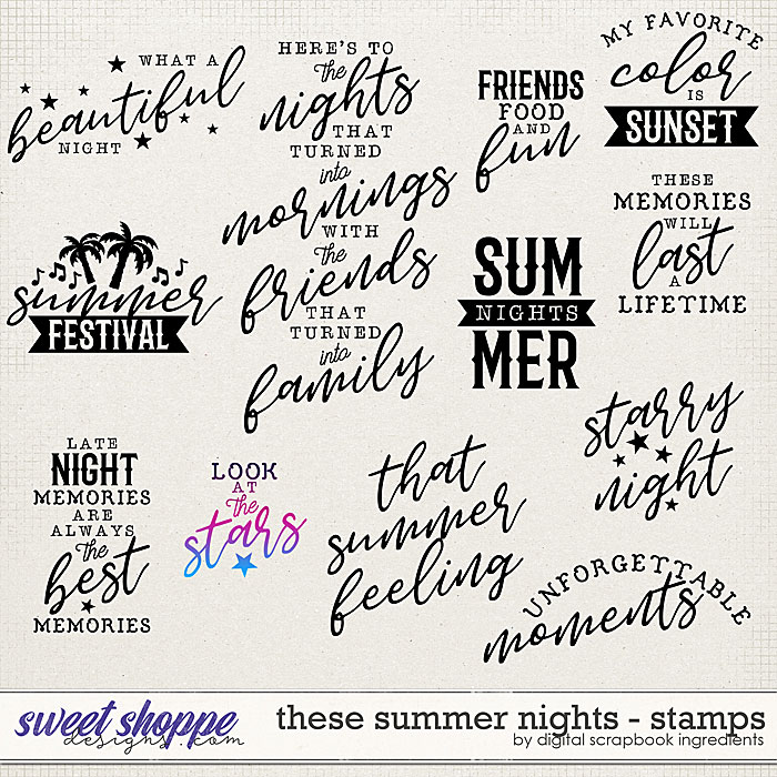 These Summer Nights | Stamps by Digital Scrapbook Ingredients