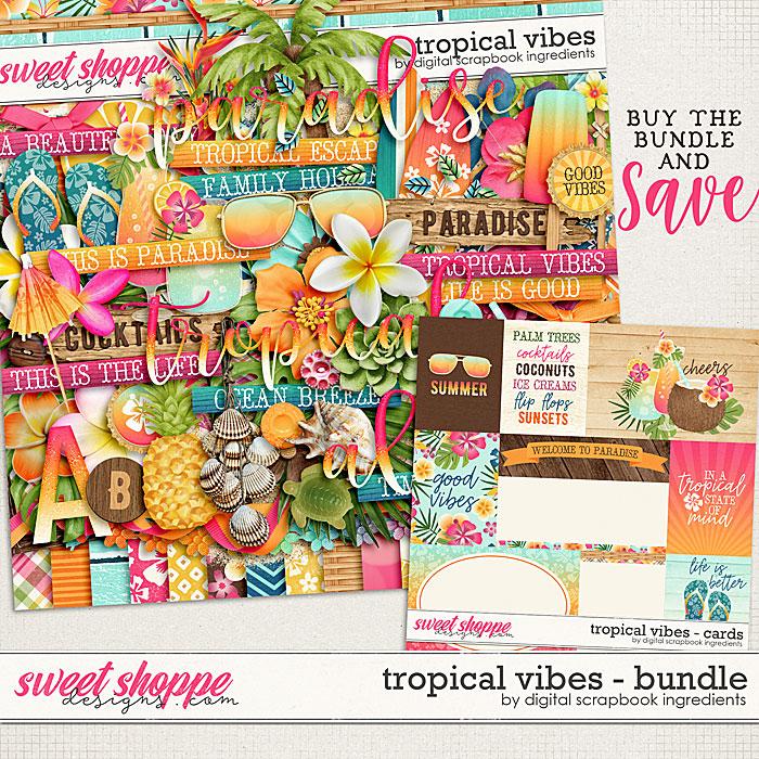 Tropical Vibes Bundle by Digital Scrapbook Ingredients