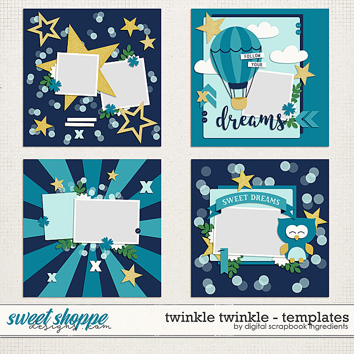 Twinkle Twinkle Templates by Digital Scrapbook Ingredients
