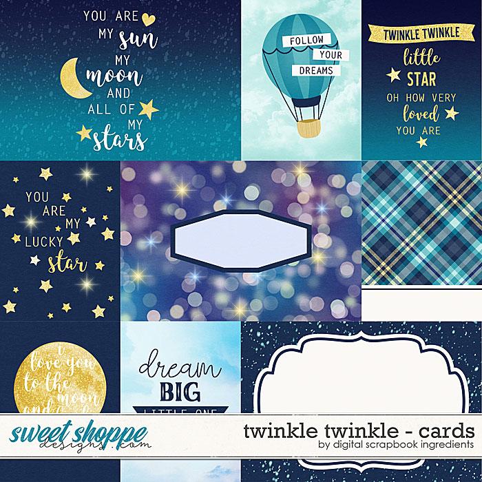 Twinkle Twinkle | Cards by Digital Scrapbook Ingredients