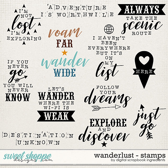 Wanderlust   Stamps by Digital Scrapbook Ingredients