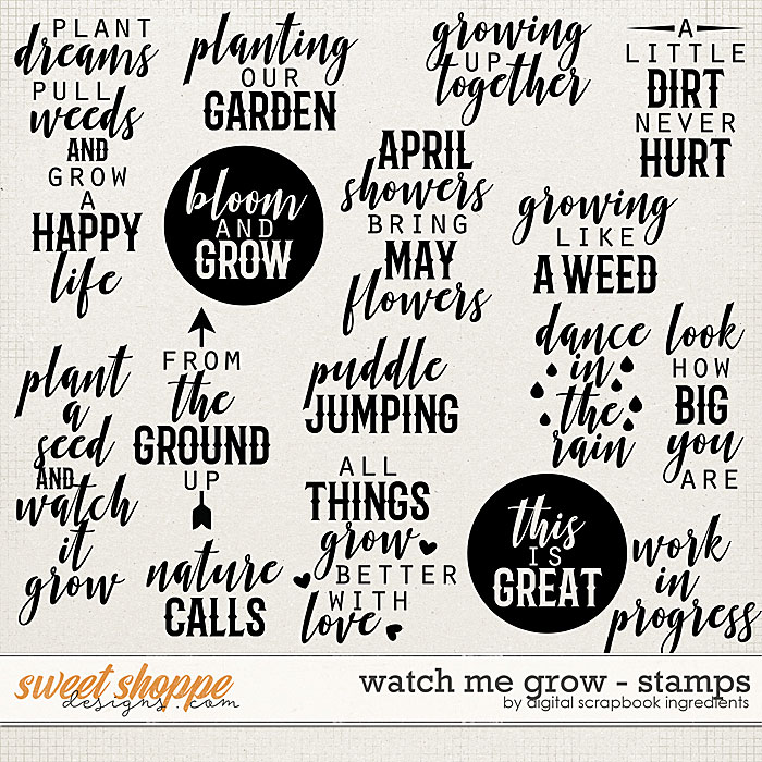 Watch Me Grow | Stamps by Digital Scrapbook Ingredients