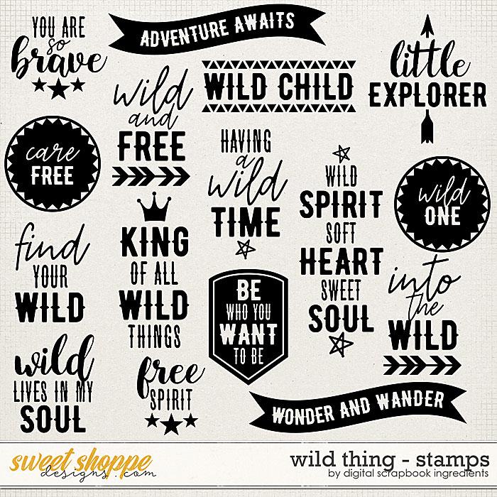 Wild Thing | Stamps by Digital Scrapbook Ingredients