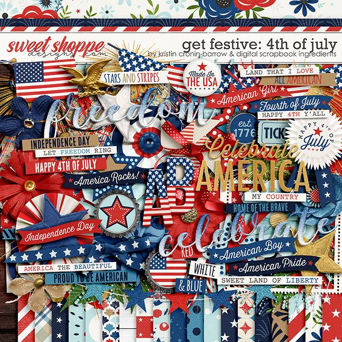 Get Festive: 4th Of July by Kristin Cronin-Barrow & Digital Scrapbook Ingredients