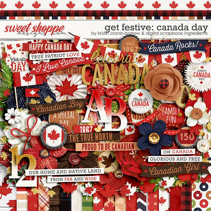 Get Festive: Canada Day by Kristin Cronin-Barrow & Digital Scrapbook Ingredients
