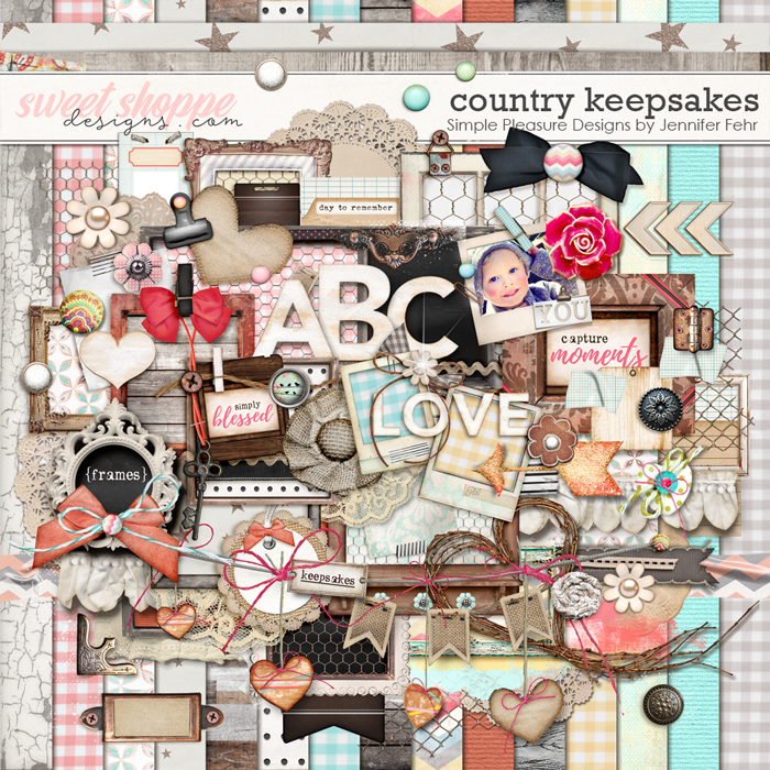 Country Keepsakes Kit:  Simple Pleasure Designs by Jennifer Fehr