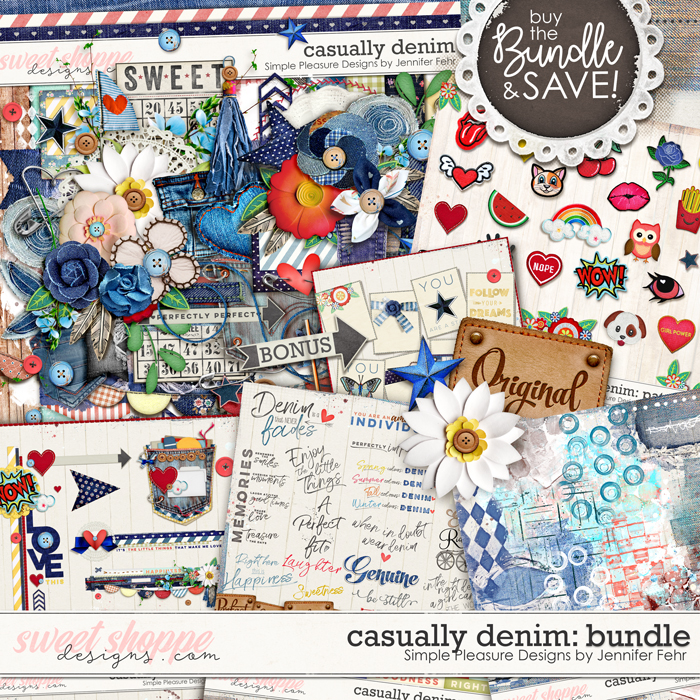 Casually Denim Bundle:  Simple Pleasure Designs by Jennifer Fehr