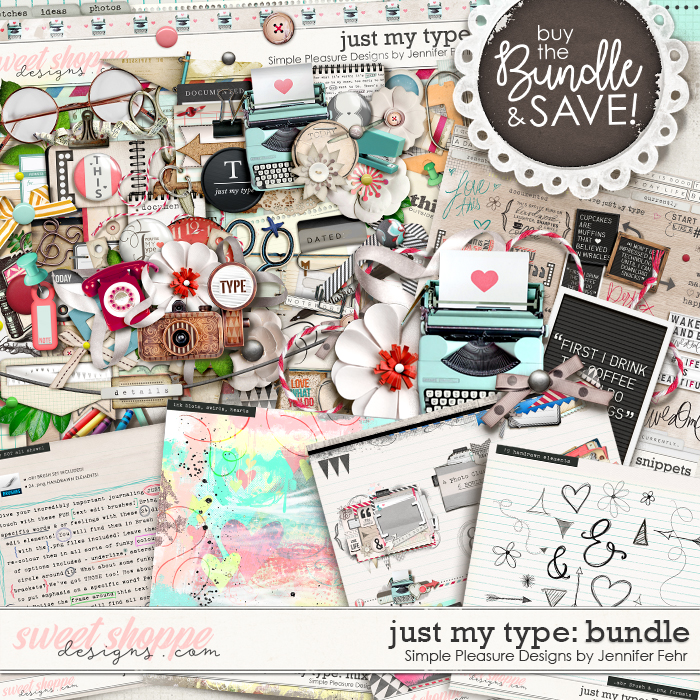 Just My Type BUNDLE:  Simple Pleasure Designs by Jennifer Fehr