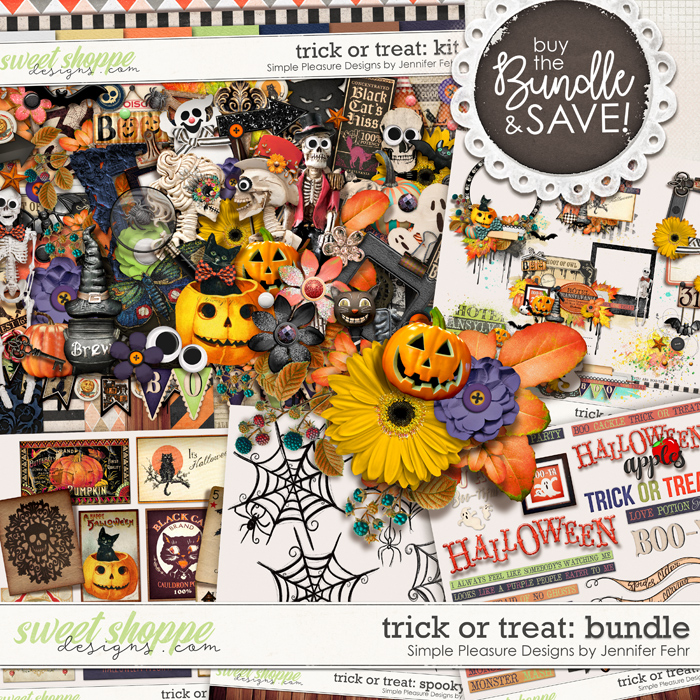 trick or treat bundle: Simple Pleasure Designs by Jennifer Fehr