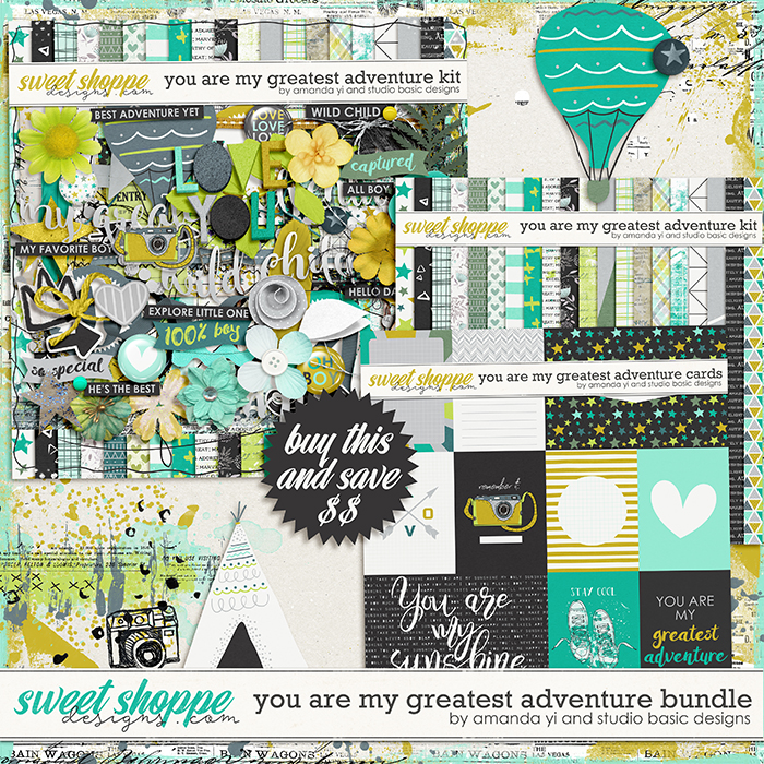 You Are My Greatest Adventure: Bundle by Amanda Yi & Studio Basic Designs