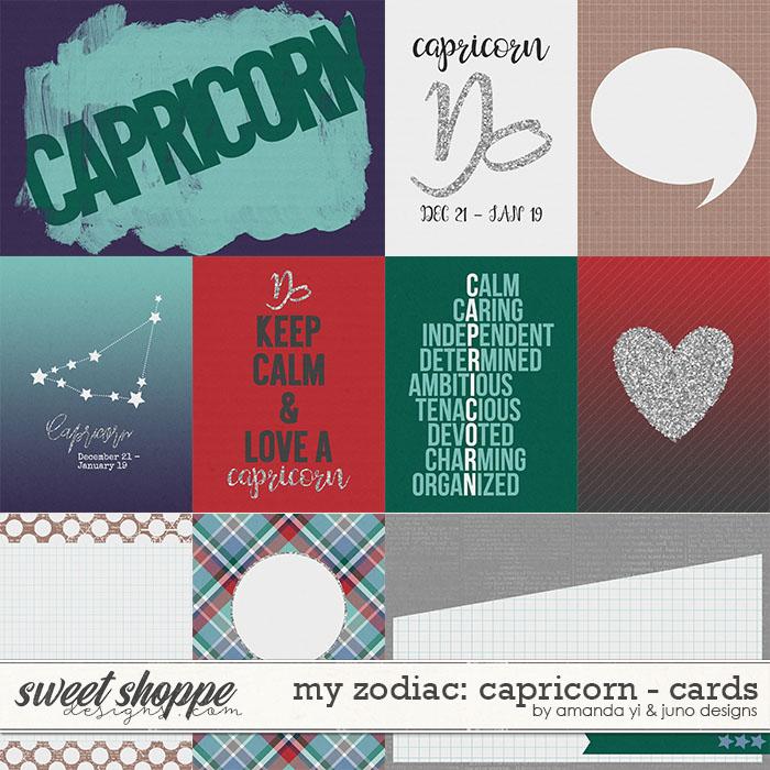 My Zodiac - Capricorn : Cards by Amanda Yi & Juno Designs