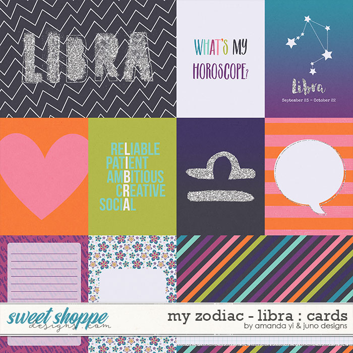 My Zodiac - Libra : Cards by Amanda Yi & Juno Designs