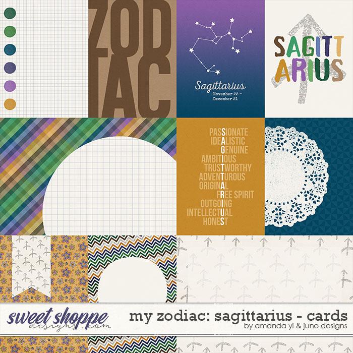 My Zodiac - Sagittarius : Cards by Amanda Yi & Juno Designs