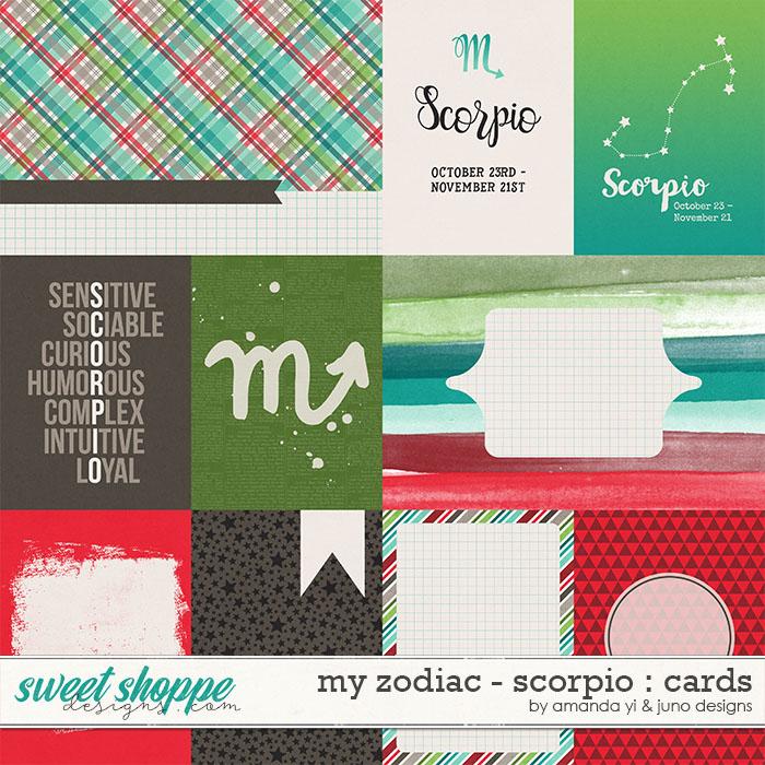 My Zodiac - Scorpio : Cards by Amanda Yi & Juno Designs
