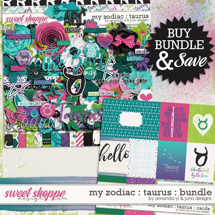 My Zodiac - Taurus: Bundle by Amanda Yi & Juno Designs