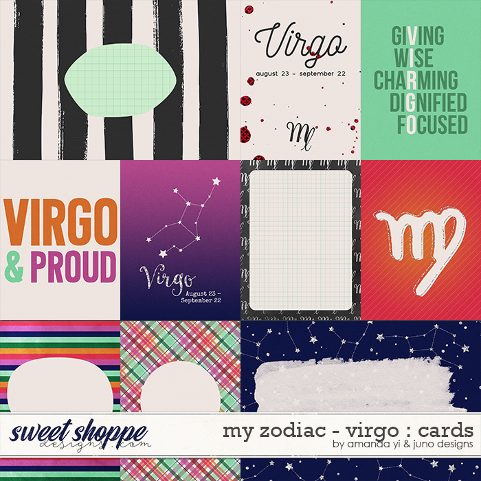 My Zodiac - Virgo : Cards by Amanda Yi & Juno Designs