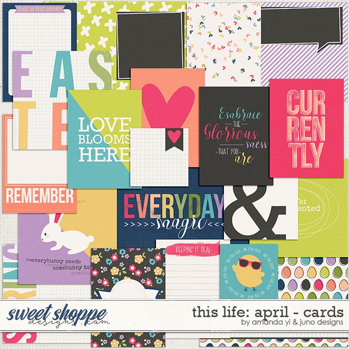 This Life: April - Cards by Amanda Yi & Juno Designs