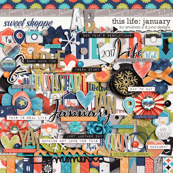 This Life: January by Amanda Yi & Juno Designs