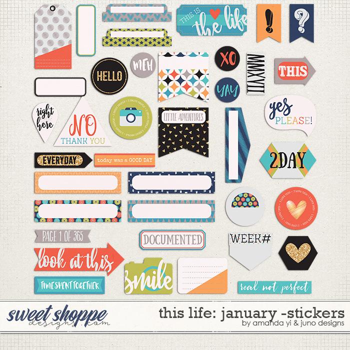 This Life: January - Stickers by Amanda Yi & Juno Designs