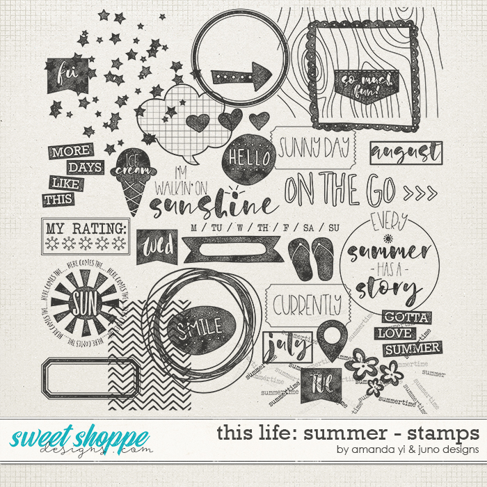 This Life: Summer - Stamps by Amanda Yi & Juno Designs