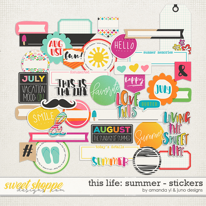 This Life: Summer - Stickers by Amanda Yi & Juno Designs