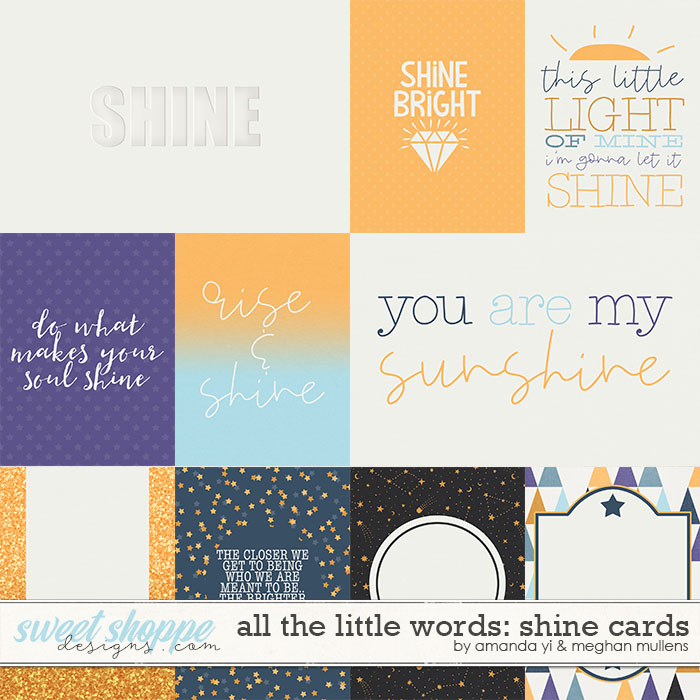 All The Little Words-Shine Card Pack by Amanda Yi and Meghan Mullens