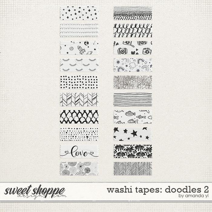 Washi tapes: doodles 2 by Amanda Yi