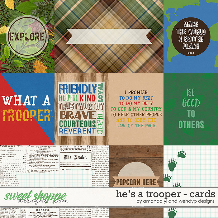 He's A Trooper: Cards by Amanda Yi & WendyP Designs