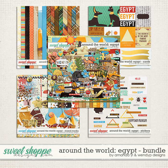 Around the world: Egypt - Bundle by Amanda Yi and WendyP Designs