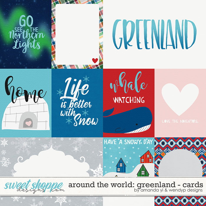 Around the world: Greenland - Cards by Amanda Yi & WendyP Designs