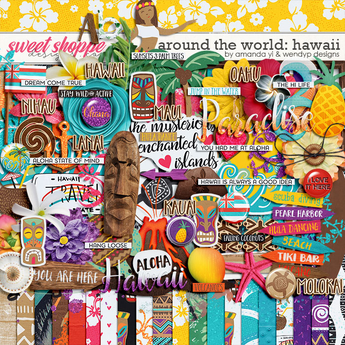 Around the world: Hawaii by Amanda Yi and WendyP Designs