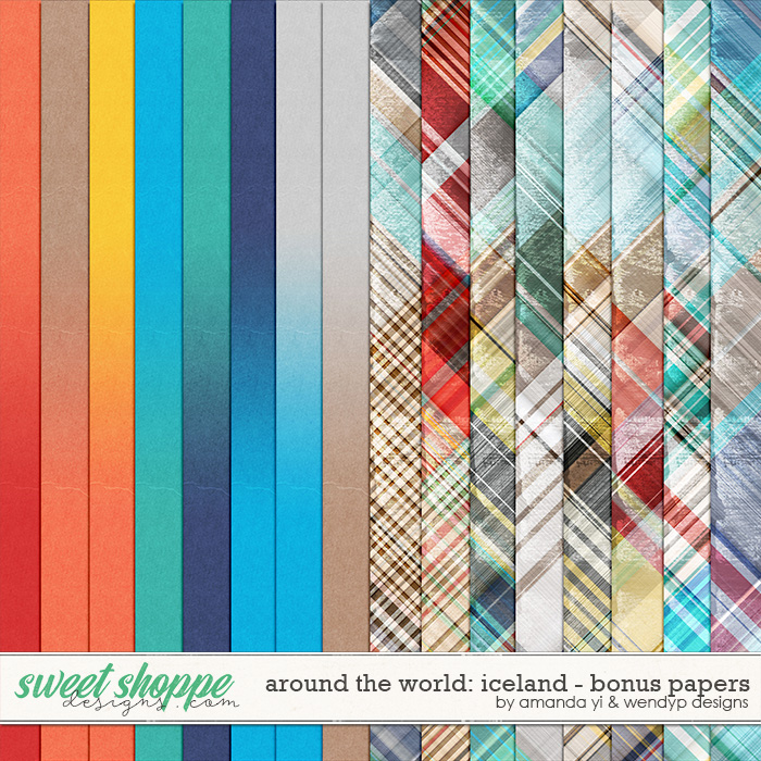 Around the world: Iceland - bonus papers by Amanda Yi & WendyP Designs