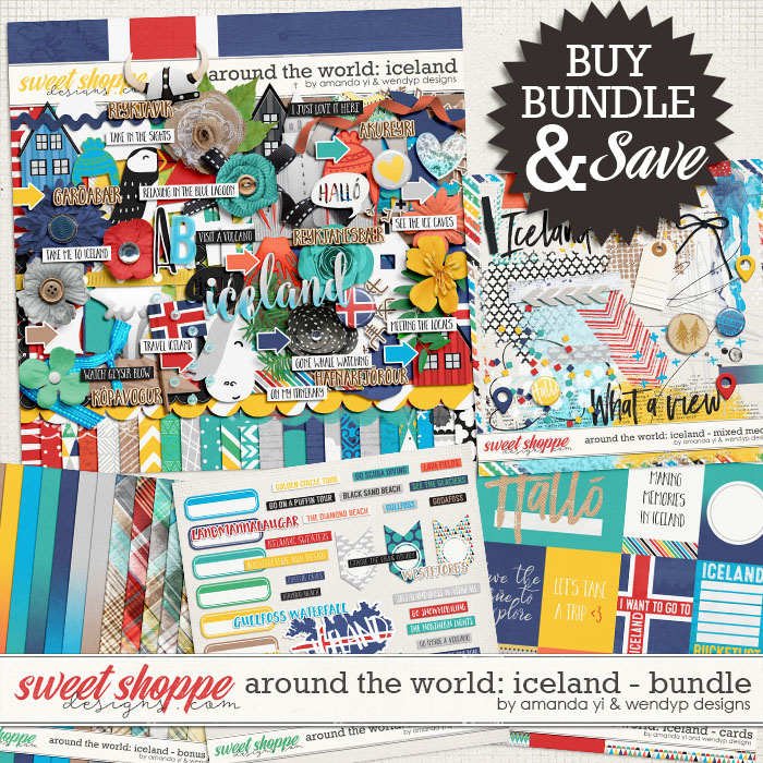 Around the world: Iceland - bundle by Amanda Yi & WendyP Designs