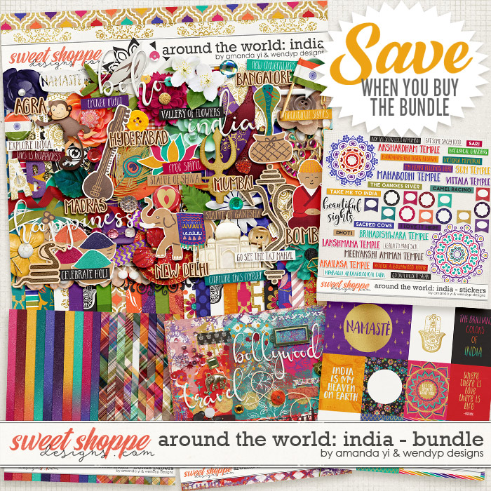 Around the world: India - Bundle by Amanda Yi & WendyP Designs