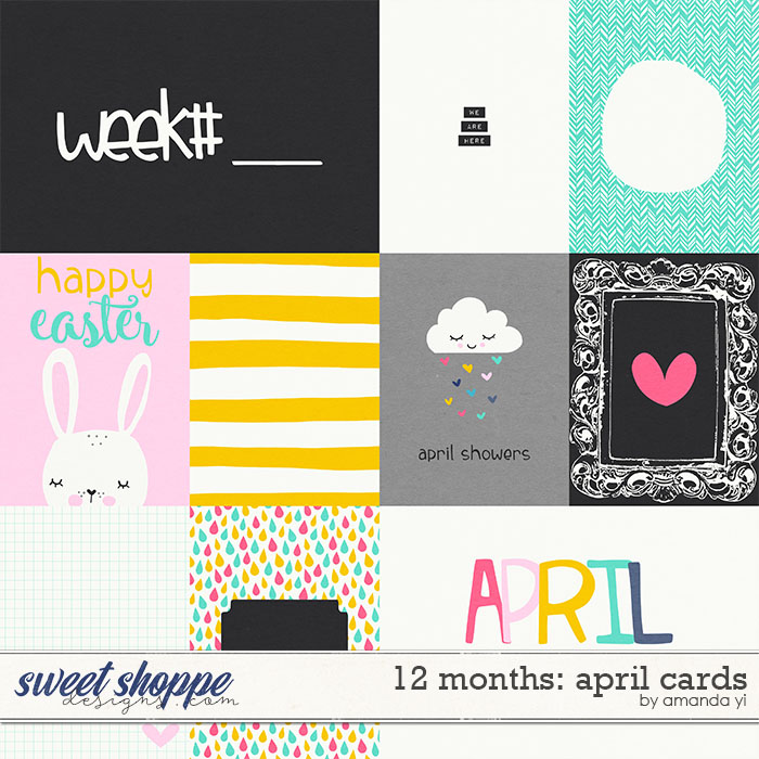 12 Months: April Cards by Amanda Yi
