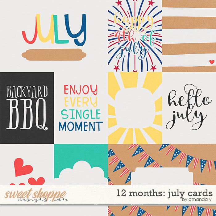 12 Months: July Cards by Amanda Yi