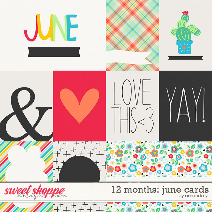 12 Months: June Cards by Amanda Yi