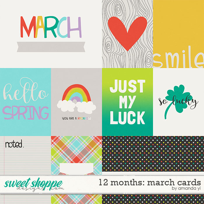 12 Months: March Cards by Amanda Yi