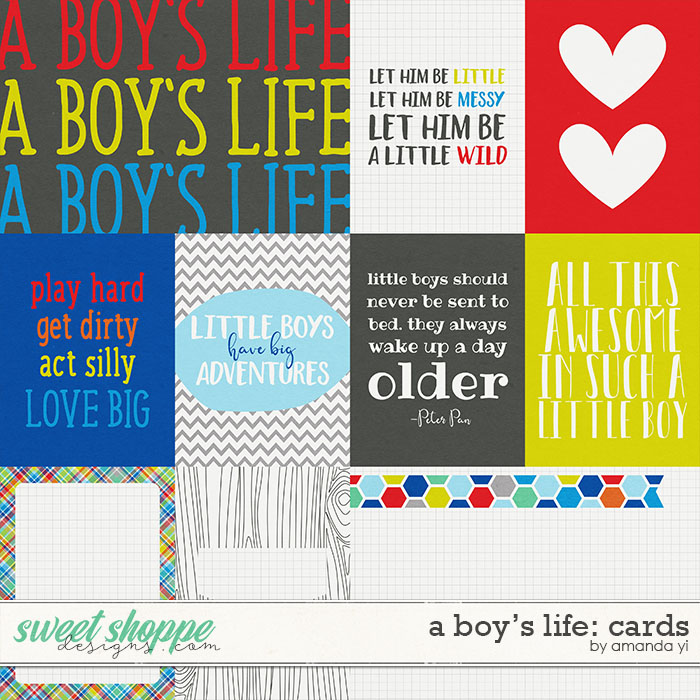 A Boy's Life: Cards by Amanda Yi