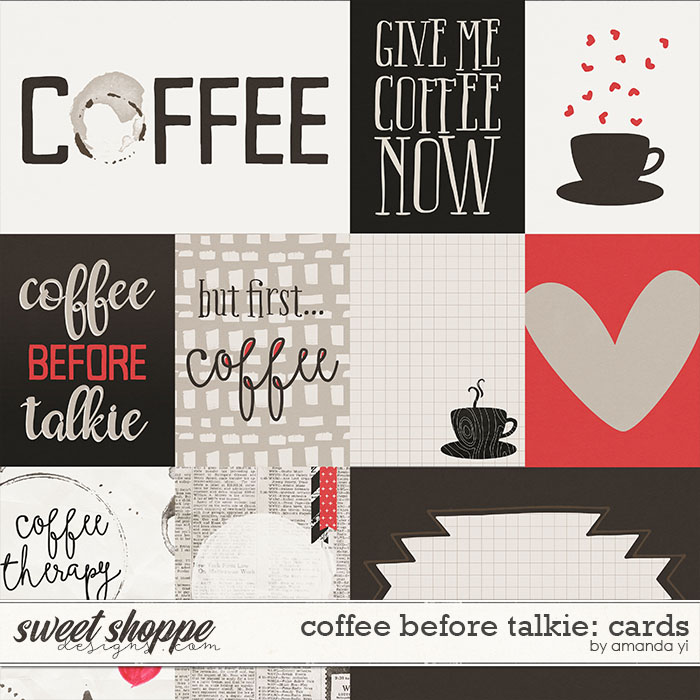 Coffee Before Talkie : Cards by Amanda Yi