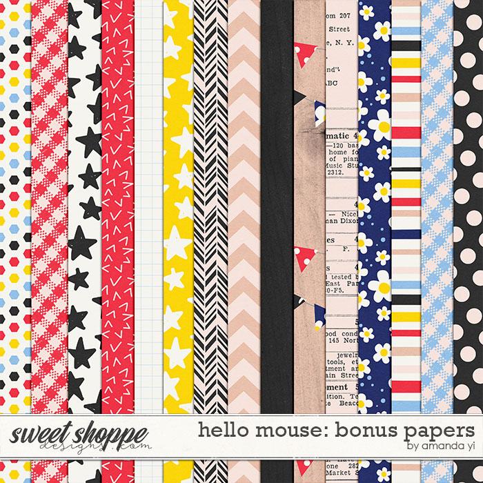 Hello Mouse: Bonus Papers by Amanda Yi