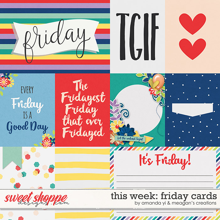 This Week: Friday - Cards by Amanda Yi & Meagan's Creations