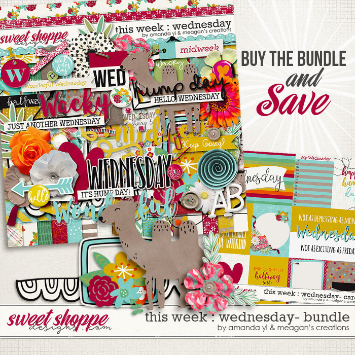 This Week: Wednesday - Bundle by Amanda Yi & Meagan's Creations