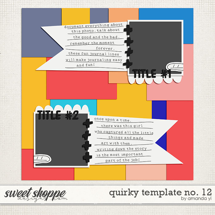 Quirky template no. 12 by Amanda Yi